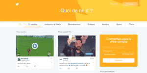 page accueil Twitter